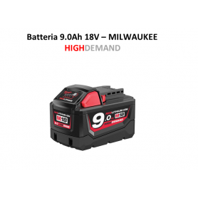 Batteria Orginale MILWAUKEE M18 B9 18 Volt 9 Ah  Red Lithium-ion