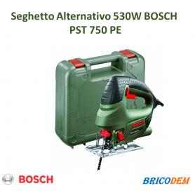 SEGHETTO ALTERNATIVO 530 W BOSCH PST 750 PE con lama da legno e valigetta