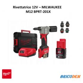 Rivettatrice a batteria Milwaukee 12V M12 BPRT-201X elettrica professionale