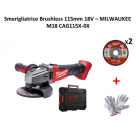 Smerigliatrice a Batteria MILWAUKEE M18 CAG115X-0X BRUSHLESS Senza Batterie