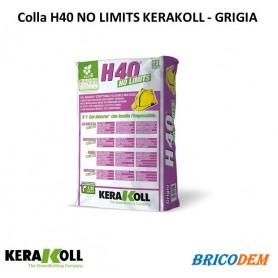 Colla in polvere H40 No LImits KERAKOLL 25Kg Grigio