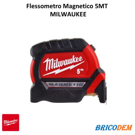 Indistruttibile Flessometro Magnetico MILWAUKEE Serie PREMIUM MT. 5 Largo MM 27