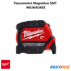 Indistruttibile Flessometro Magnetico MILWAUKEE Serie PREMIUM MT. 8 Largo MM 27