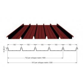 Lastra lamiera preverniciata grecata 0,6mm Copertura verande tettoie 300Cm