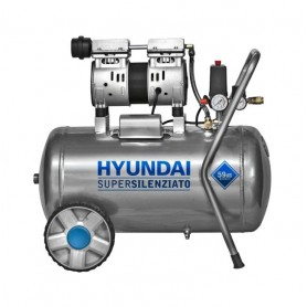 Compressore aria 50 lt Hyundai 65701 Super Silenziato 59 dB8 Portatile Bar 1 Hp