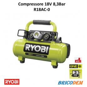 Ryobi R18AC-0 compressore aria portatile a batteria 18V ONE+ solo corpo