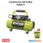 Ryobi R18AC compressore aria portatile a batteria 18V ONE+ solo corpo