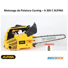 Motosega a scoppio da potatura Alpina A 305 C Carving – Con Omaggi barra 25 cm