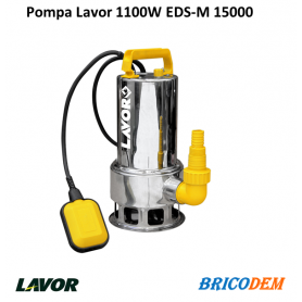 Pompa sommersa acque nere Lavor EDS-M 15000 elettrica 1,5 Hp per fogne 15000lt/h