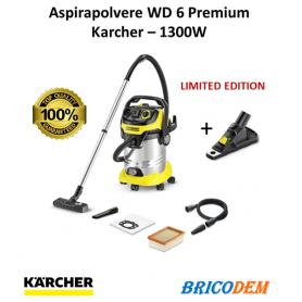 Aspiratore multiuso Karcher WD 6 P Premium + Drill Dust Catcher- soffiatore - bidone 30 lt, 1300W