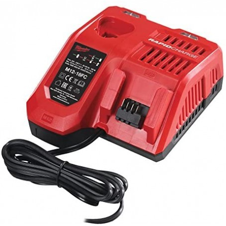 Milwaukee Caricabatterie rapido M12-18FC per trapano a batteria - smerigliatrice