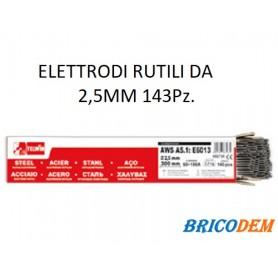 ELETTRODI RUTILI PER SALDATURA 2,5 MM 2.5 KG TELWIN 802739 PACCO 143 Pz.