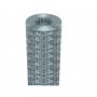 25Mt. Rotolo rete metallica zincata elettrosaldata maglia 5X7,5cm per recinzione