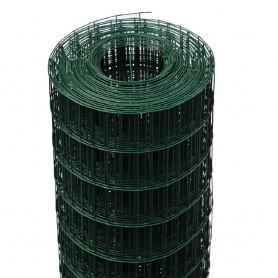 25mt. Rotolo rete metallica zincata plastificata verde elettrosaldata maglia 5X7,5cm per recinzione