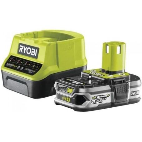Kit Batteria e caricabatteria Ryobi RC18120-125 18V ONE+ 2.5Ah
