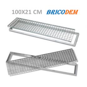 Griglia zincata c/telaio 100x21 cm - 1000x210 mm