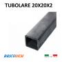 Ferro profilato tubolare scatolato 20x20x2 nero