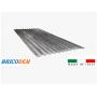 Lamiera zincata ondulata foglio 200x90 cm - spessore 0,25 mm copertura parete