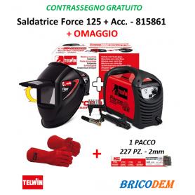Saldatrice Inverter Telwin Force 125 + Acc. e Maschera - 815861