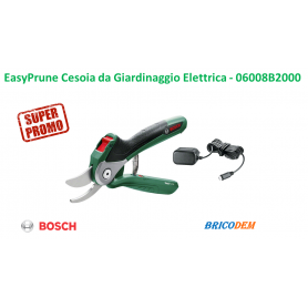 Bosch EasyPrune Cesoia da Giardinaggio a Batteria, 3.6 V, in Blister, Verde - 06008B2000