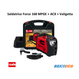 Saldatrice Inverter Telwin Force 168 MPGE + ACX e Valigetta - 816211