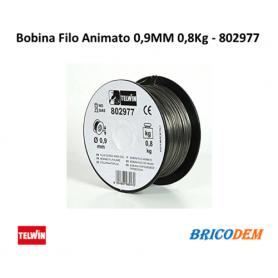 Bobina filo animato acciaio saldatrici filo NO GAS 0,9mm 0,8Kg - 802179