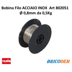 Bobina filo acciaio INOX GAS 0,8mm 0,5Kg - 802051