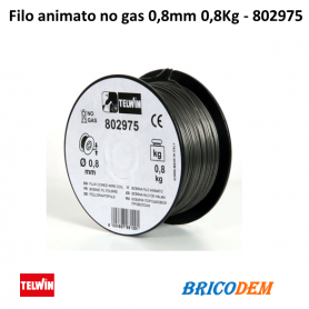 Bobina filo animato NO GAS 0,8mm 0,8Kg - 802208