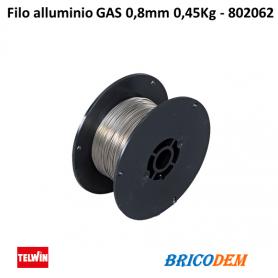 Bobina filo alluminio GAS 0,8mm 0,45Kg - 802062