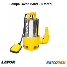 Pompa Elettropompa Sommersa LAVOR Acciaio Inox 750W per Acque Sporche Torbide
