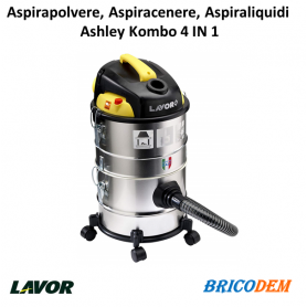 Aspiracenere Lavor Ashley Kombo (4 in 1) aspirapolvere-aspiraliquidi, 1200 watt