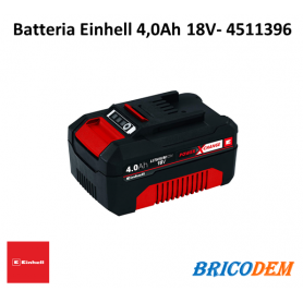 Batteria Einhell Power X-Change 18V 4,0 Ah ioni di litio 4511396