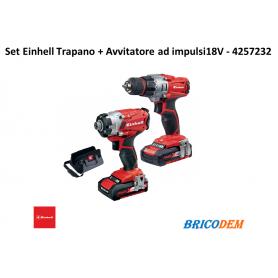 Set trapano e avvitatore impulsi a batteria Einhell  TE-TK 18 LI KIT 4257232