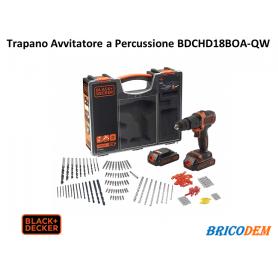 Trapano Avvitatore a percussione 18V Black+Decker Doppia Batteria BDCHD18BOA-QW