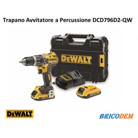 Trapano avvitatore Dewalt 18V DCD796D2 con percussione + 2 batterie 2Ah