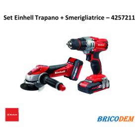 Set Utensili a batteria Einhell TE-TK Li Kit (CD+AG) Smerigliatrice Avvitatore - 4257211