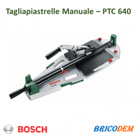Bosch PTC 640 Tagliapiastrelle Manuale, Verde, 640 mm
