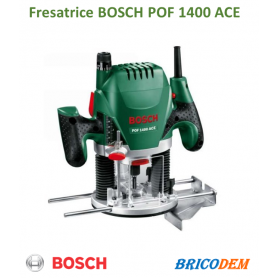 Bosch POF 1400 ACE Fresatrice Verticale, 1400 W, in Valigetta