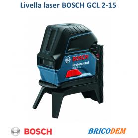 Bosch Professional GCL 2-15 Livella Laser Multifunzione, 3 batterie AA