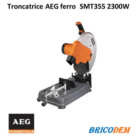 Troncatrice ferro AEG SMT 355 2300W a disco per metalli e acciaio