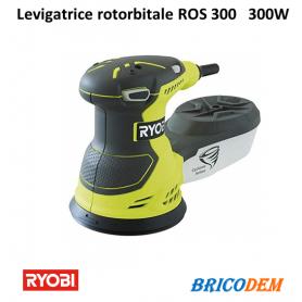 Levigatrice rotorbitale 300W RYOBI ROS 300 legno 125 mm con aspira polveri