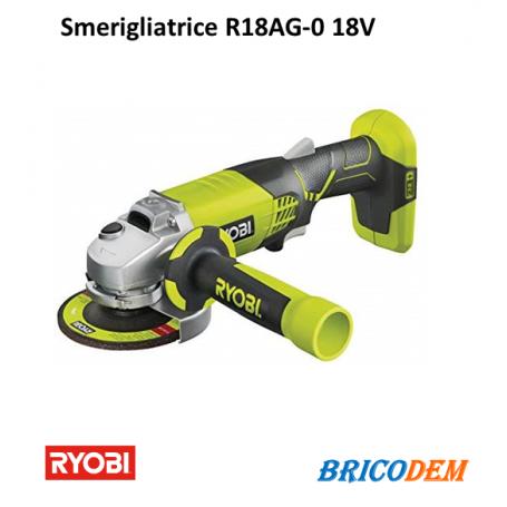 Ryobi R18AG-0 ONE+ Smerigliatrice angolare a Batteria disco mola 115 mm
