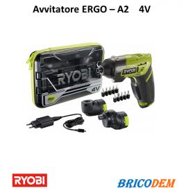Cacciavite a batteria Ryobi Ergo-A2 Mini trapano avvitatore 4V in Kit valigetta
