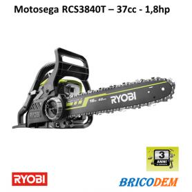 MOTOSEGA PROFESSIONALE MOTORE A SCOPPIO MOTO SEGA 37CC RYOBI RCS3840T 2T BARRA 40CM