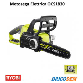 Ryobi ocs1830 Motosega elettrica senza fili guida 30 cm