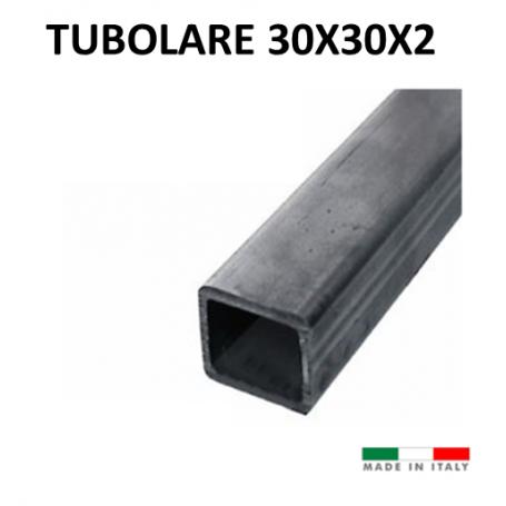 Ferro profilato tubolare scatolato 30x30x2 nero