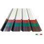 Lastra lamiera preverniciata grecata 0,6mm Copertura verande tettoie 200Cm