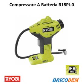 Compressore aria portatile Ryobi R18PI-0 a batteria 18V gomme auto, moto e bici