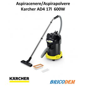 Karcher AD 4 Premium Bidone multifunzione aspiracenere e solidi 17L scuotifiltro