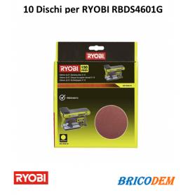 10 Dischi Diamante Ryobi Auto Gancio 150 mm - Grana 80 SD150A10 Per RBDS4601G